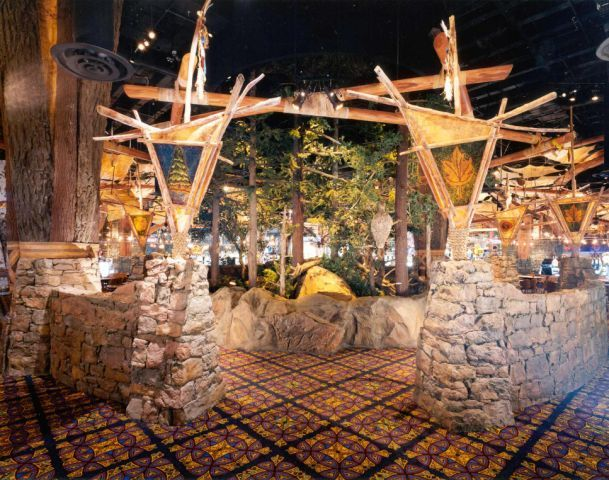 Potawatomi Casino - Torchiere Gate to Circle of Life